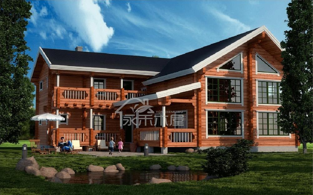 木屋公司井干式木结构01