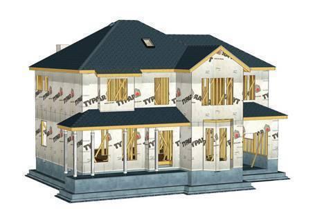 木屋定制厂家木屋外墙呼吸纸安装