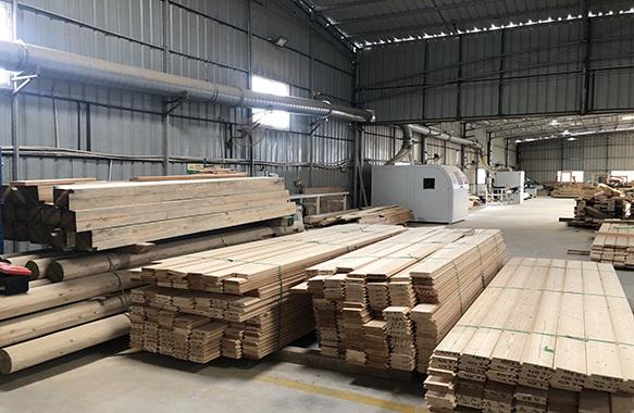 木屋生产车间