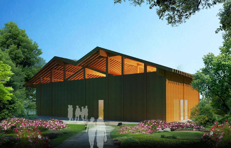 木结构木屋效果图