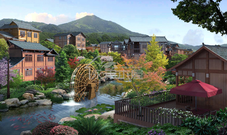 木屋建筑公司案例侗族区透视图