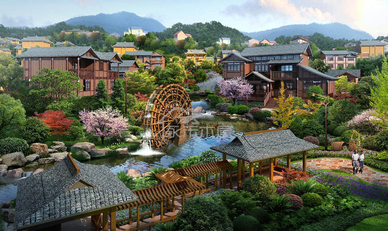 木屋建造案例侗族区透视图
