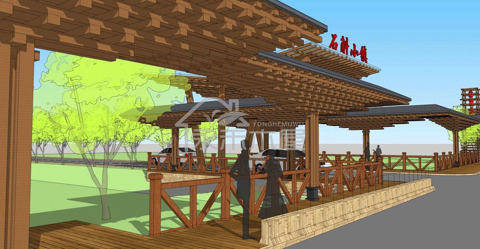 生态木屋厂家案例图片